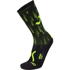 UYN Run Support Socks Men black/yellow fluo